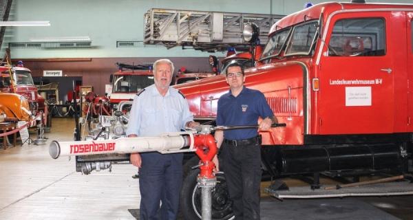 Wasserwerfer der Feuerwehr Willinghusen hat ein neues Zuhause